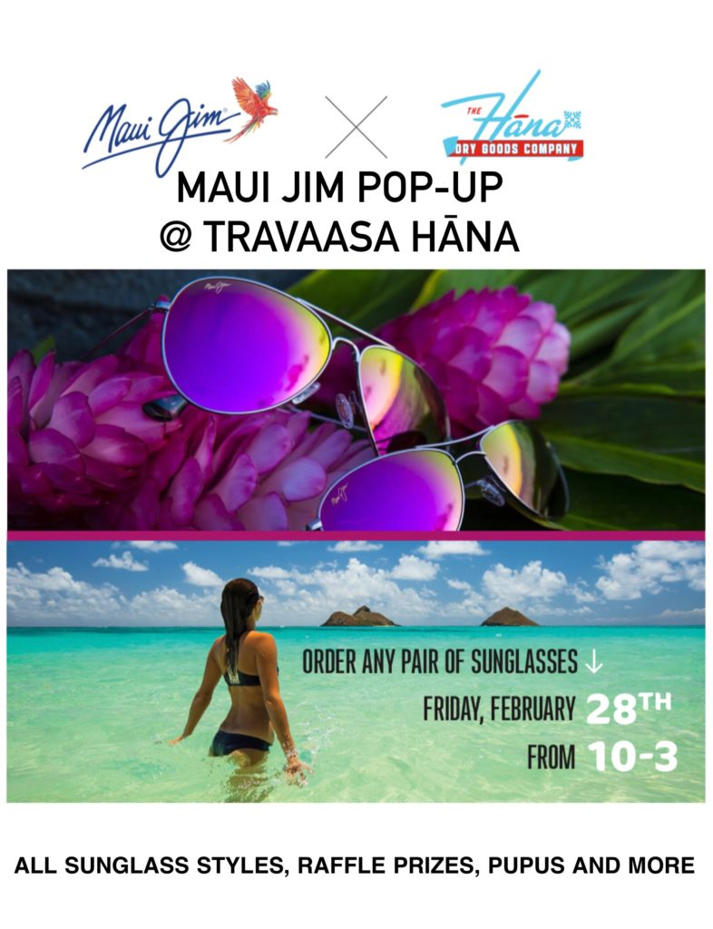 Maui Jim pop-up