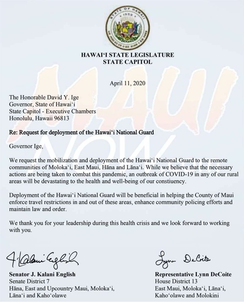 National Guard Deployed Letter