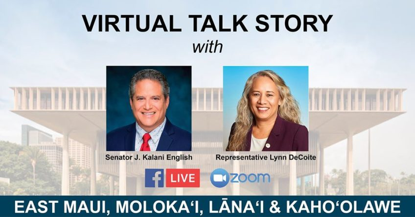 Videoconference recording links: April 13 with Gov. Ige, Mayor Victorino, Sen. English, Rep. DeCoite