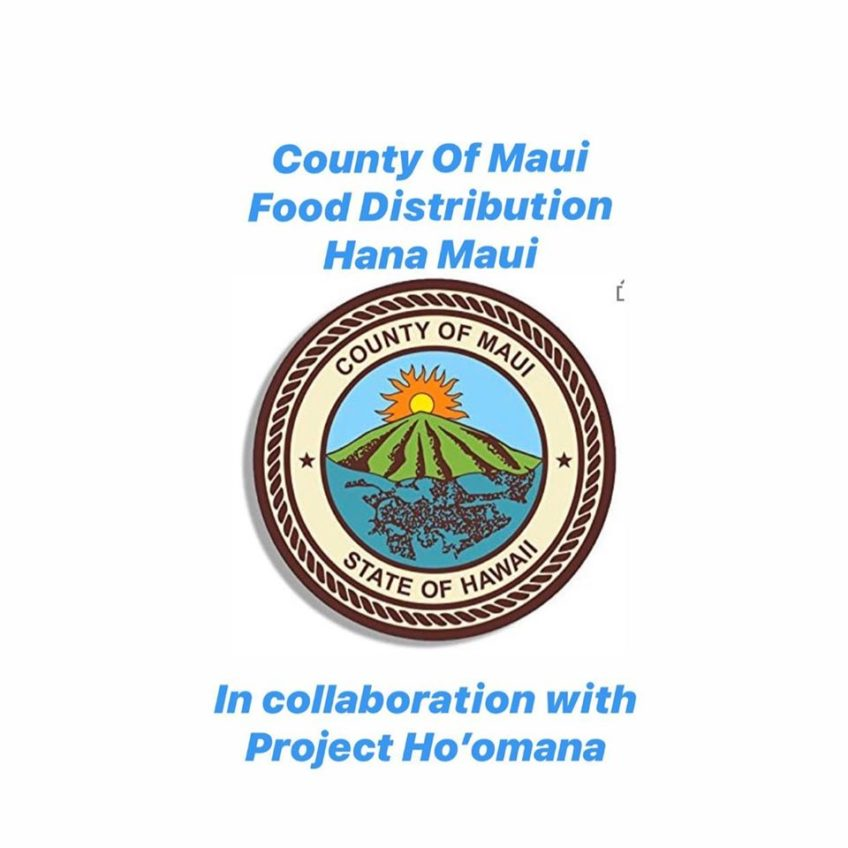 Food distribution for Hana residents in need