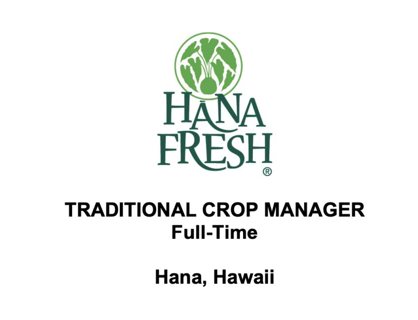 Hana Fresh Job – Traditional Crop Manager