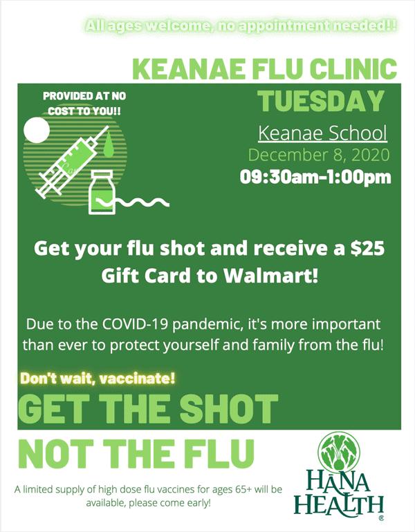 Ke'anae Flu Shot Clinic