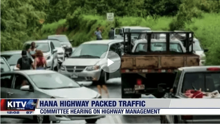 Maui residents say there needs to be a solution to mitigate traffic onHana Highway
